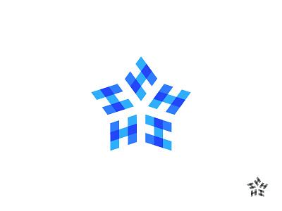 H star h brand icon type letter graphic symbol identity mark logo