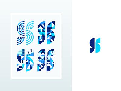 S mark V2 design icon illustration symbol abstract geometric letter s for sale mark monogram brand graphic identity logo