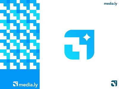 M mark identity brand design graphic logo mark for sale abstract pattern modern media m m mark symbol logo designer brand identity logo