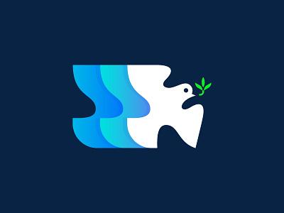Bird brand design graphic identity design for sale branding consult consulting logo designer digital marketing peace symbol olive dove bird logo mark
