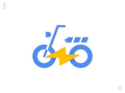 Ebike fat bike bicycle ebike enviromental identity electric lightning bike mark icon for hire logo start up digital marketing desktop mobile app icon for sale visual corporate identity brand branding marketing logo designer