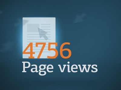 Pageviews dribbble