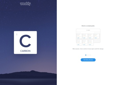 Weebly Carbon Launch Preview css html web developement jquery javascript frontend web motion animation preview carbon weebly