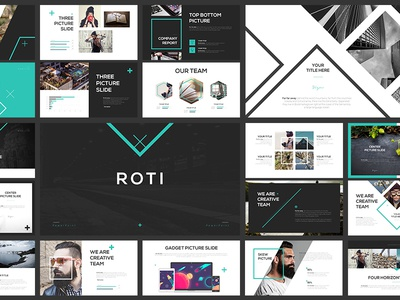 Roti Presentation Template layout shape creative template keynote powerpoint presetation