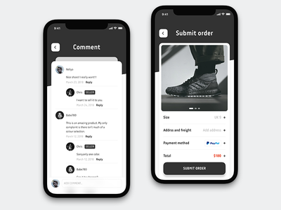 Sneakers Comment Order