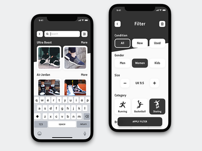 Sneakers Search Filter