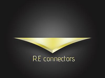 R.E Connectors branding logo