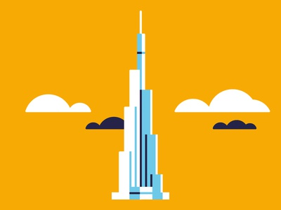 Burj khalifa  | Dubai graphic design illustration uiux uiux branding logo
