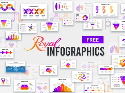 Royal Infographics - FREE powerpoint template powerpoint design powerpoint slide deck deck design presentation template presentation design presentation infographic elements infographic design infographics infographic