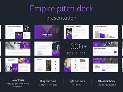 Pitch Deck Empire Presentation Template template slide presentation powerpoint keynote pitch deck