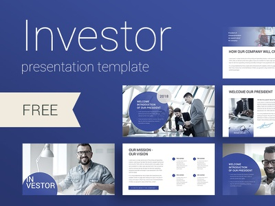 Investor Presentation template typography design icon create annual report infographic template slide presentation powerpoint keynote