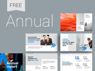 Annual Report PowerPoint Template vector typography brand ux ui creative icons design create icon annual report infographic template slide presentation powerpoint keynote
