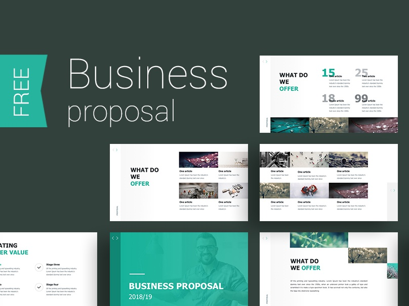 Proposal presentation template by alex dribbble business presentation template for your business clean and professional presentation slides contain many infographics and charts that you will need in your wajeb Images