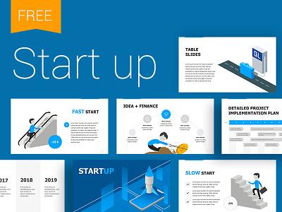 Start Up presentation template identity start up infographics illustration infographic template slide presentation powerpoint keynote