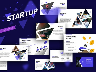 Startup Presentation Template minimal creative branding deck infographic illustration design create annual report slide template keynote powerpoint presentation