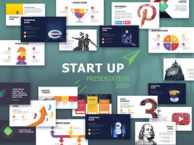 StartUp-X Presentation Template isomatric creative design annual report infographic presentation template slide powerpoint keynote google slides