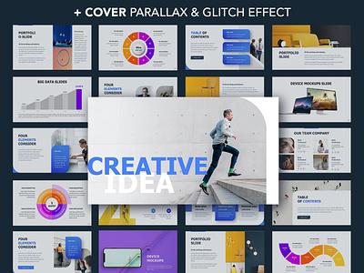 Creative Idea Presentation template brand design annual report infographic template slide presentation powerpoint keynote