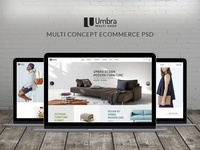 Umbra - Furniture & Interior PSD Template
