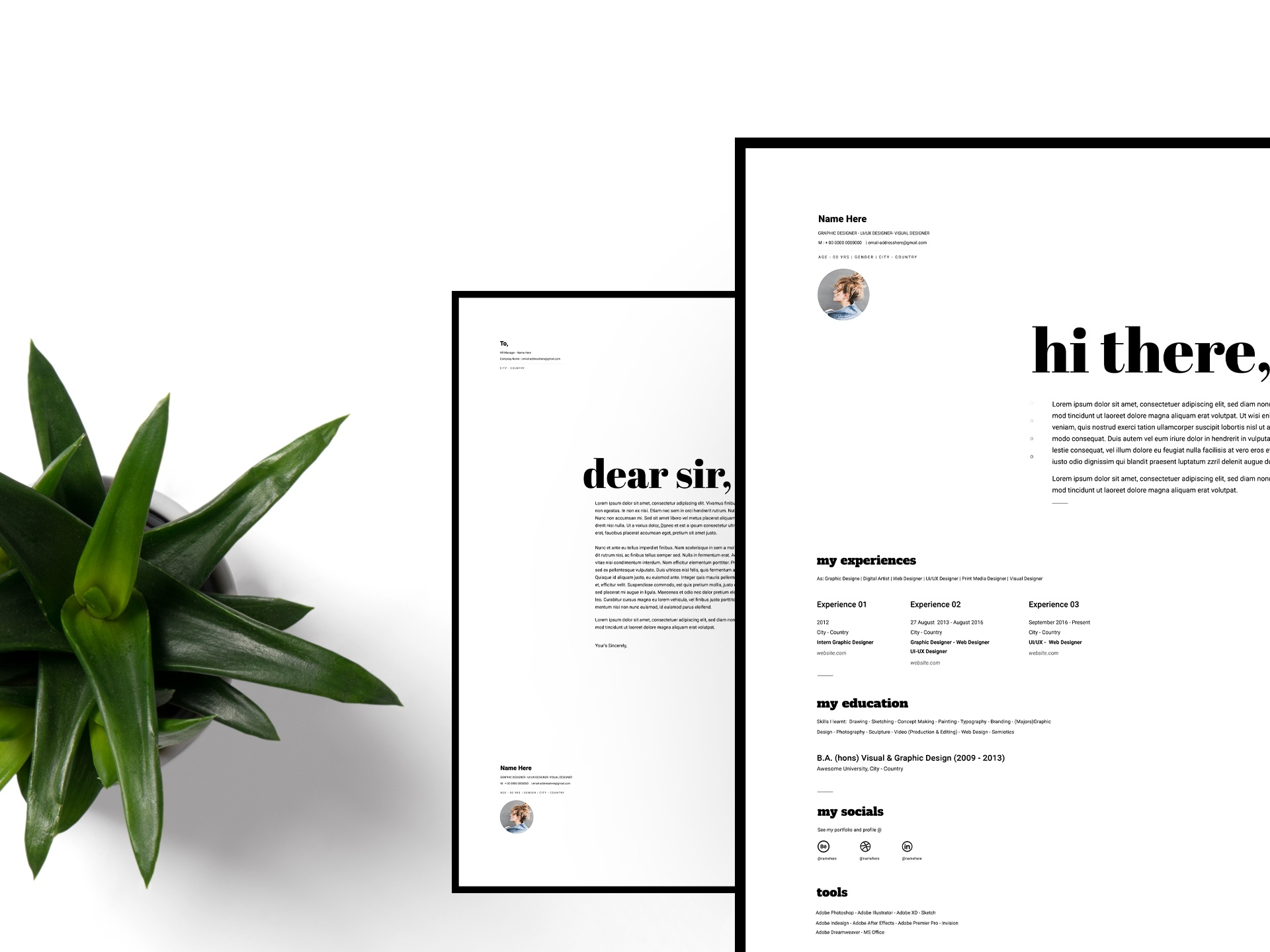 Freebie - Resume & Cover Letter Design | 2019 by Shafaq ...