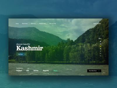 Visit Kashmir - Concept Webdesign