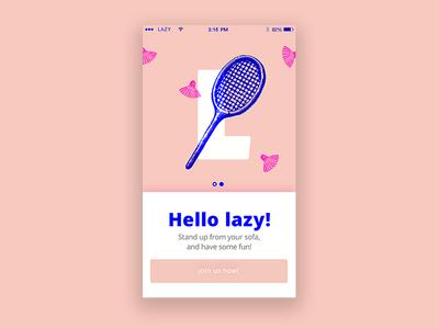 Hello Lazy! app sport