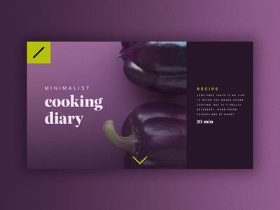 Minimalist Cooking Diary blog cooking minimalist