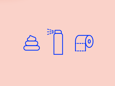 WC icon mini set wc
