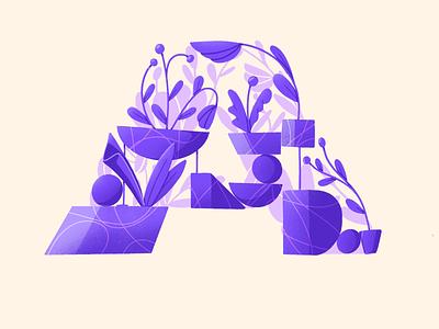 36 days of type - A pattern organic composition drawing ipad geometric plants flowers procreate illustration