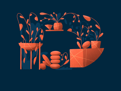 36Days of Type - D flowers alphabet lettering challenge organic ipad procreate illustration lettering letter composition floral