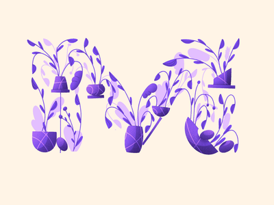 36 Days of type lettering artist 36daysoftype 36days daily alphabet composition organic vases plants flowers art design challenge letter