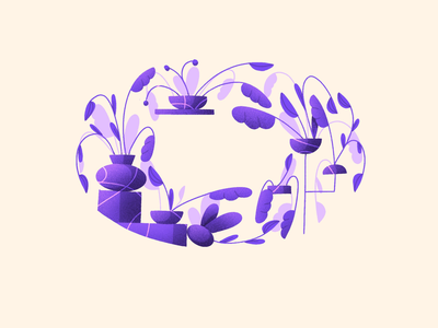36 Days of Type - O challenge vases shapes daily organic drawing illustration procreate ipad flowers plants alphabet lettering letter