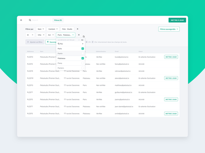 Filters module list filters popular dribbble best shot dribbble screen application uidesign sketch product ui interface clean design