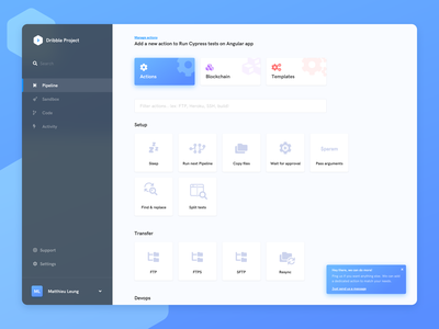 Buddy Playoff buddy pipeline app automation dashboard ux popular dribbble application uidesign sketch product interface clean design ui