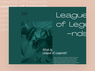 Grid Layout Experiments videogame game website grids fonts pangram webdesign editorial gaming leagueoflegends layout