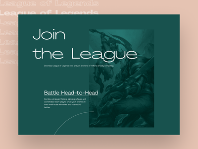 League of Legends Editorial Website minimalism league cream green brutalism leagueoflegends videogame gaming game webdesign layout grid website edition editorial