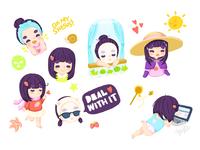 Asian Beauty Stickers
