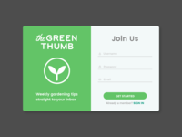 DailyUI Day 001 - Sign Up