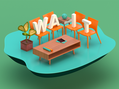 WAIT c4d render type 3d