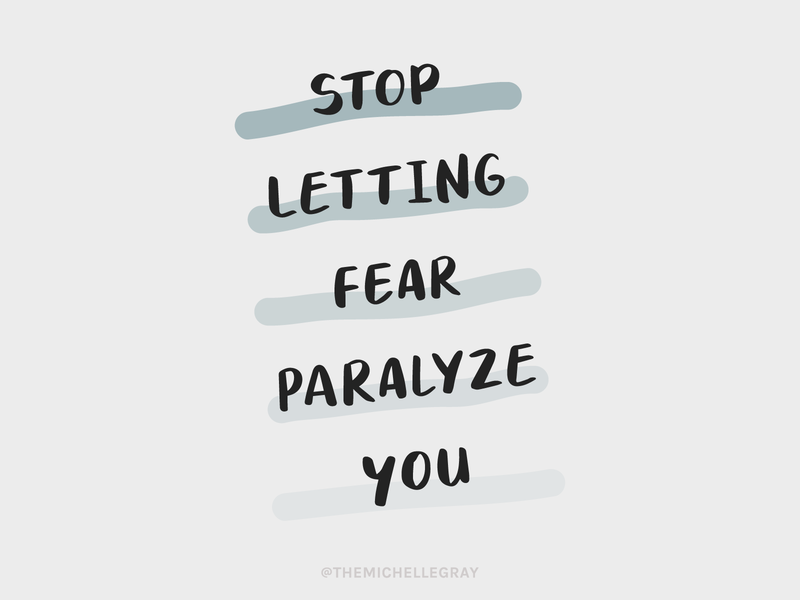 Fear is Paralyzing sketchy simple procreate handwritten inspiration fear motivation quote instagram typography illustration