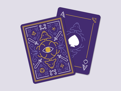 Throne of Glass Playing Cards foil stamp collaboration linework vector illustration exclusive owlcrate throne of glass ace deck of cards playing cards cards bookish book