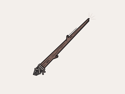 Vectober 2020 - Day 15 smoky quartz nature spooky fall autumn halloween witchy crystal witchcraft magic wand magic wand vectober inktober vector illustration