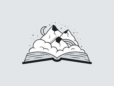 City of Starlight flat linework book landscape velaris acotar vector illustration