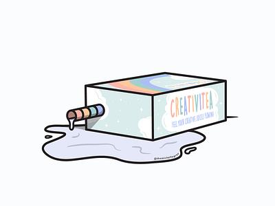 All Out of Creativi-tea illustrator drink food pastel juicebox creativitea dtiys linework vector illustration