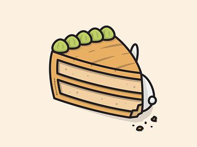 Literal Carrot Cake dtiys cake bunny carrot cake illustrator food linework vector illustration