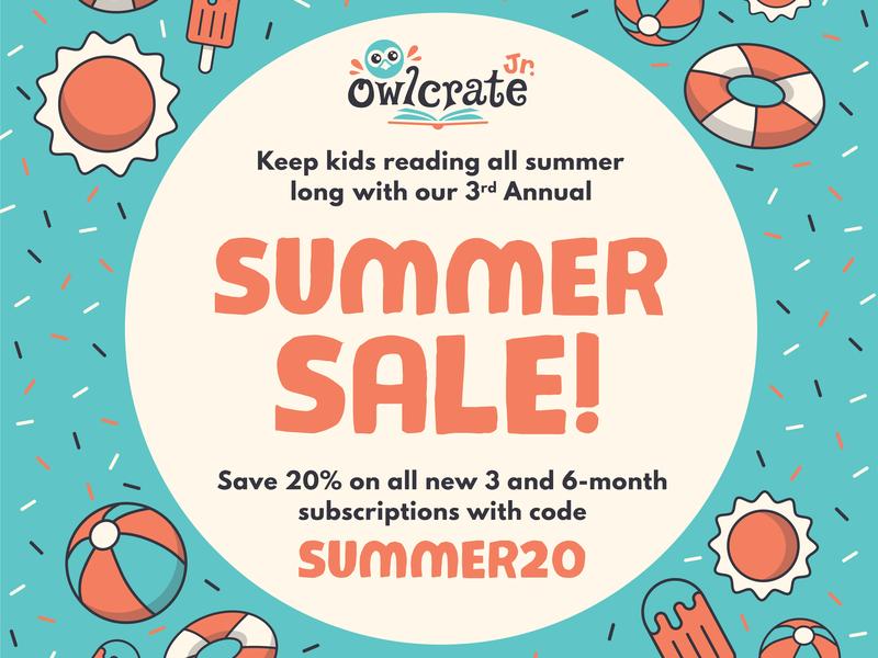 Summer Sale Ad beach illustration design linework instagram owlcrate illustrator vector sale summer