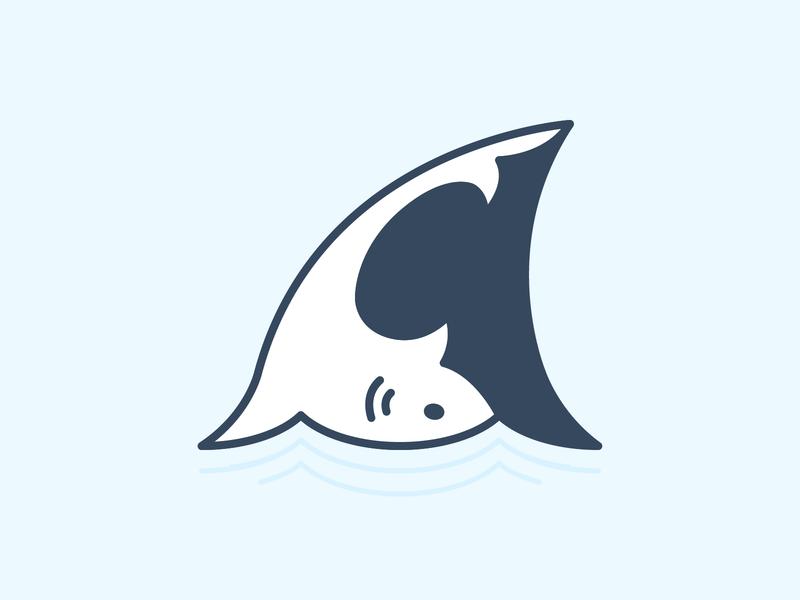 We're Gonna Need A Bigger Boat - Weekly Warm-Up weekly warm-up shark jaws logo icon shape flat linework vector illustration