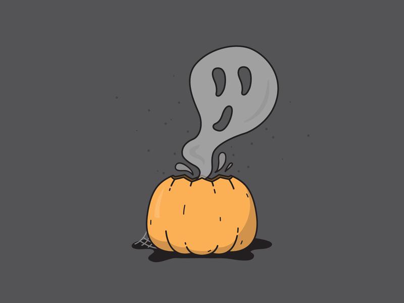 Happy Halloween - Weekly Warm-Up october spooky ghost pumpkin halloween weekly warm-up vector illustration