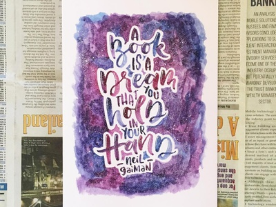 Watercolor Lettering: Quote 2 watercolor design typography lettering illustration