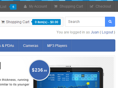 Blueline OpenCart Theme opencart ecommerce theme css html blue responsive