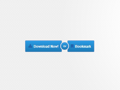 Buttons css html fontawesome blue retina